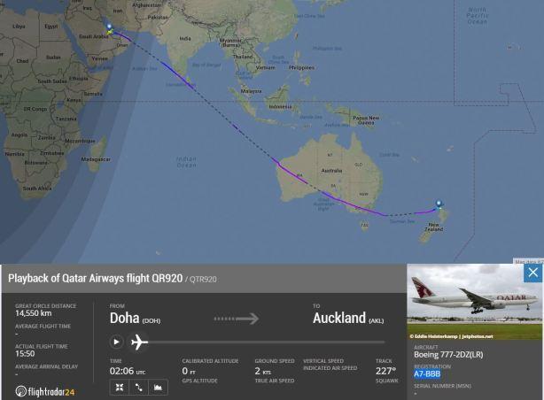 Qatar Airways - Volo QR920
