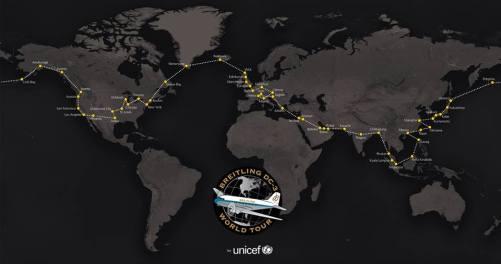 Breitling DC-3 World Tour Map