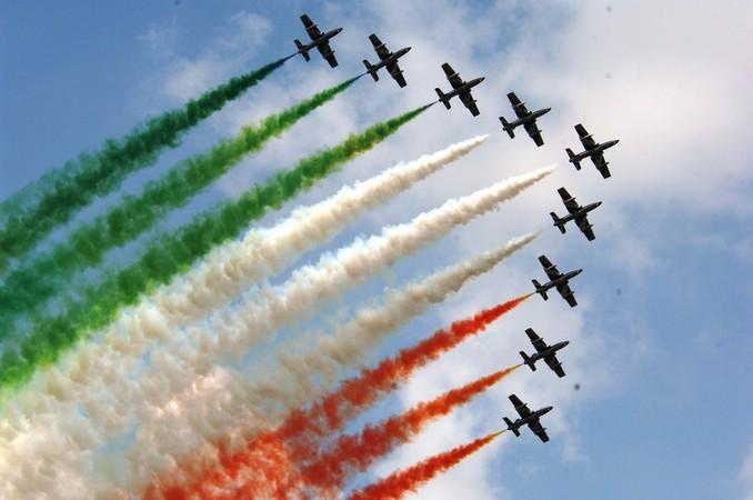 95 Anniversario Aeronautica Militare Sorvolo Frecce Tricolori