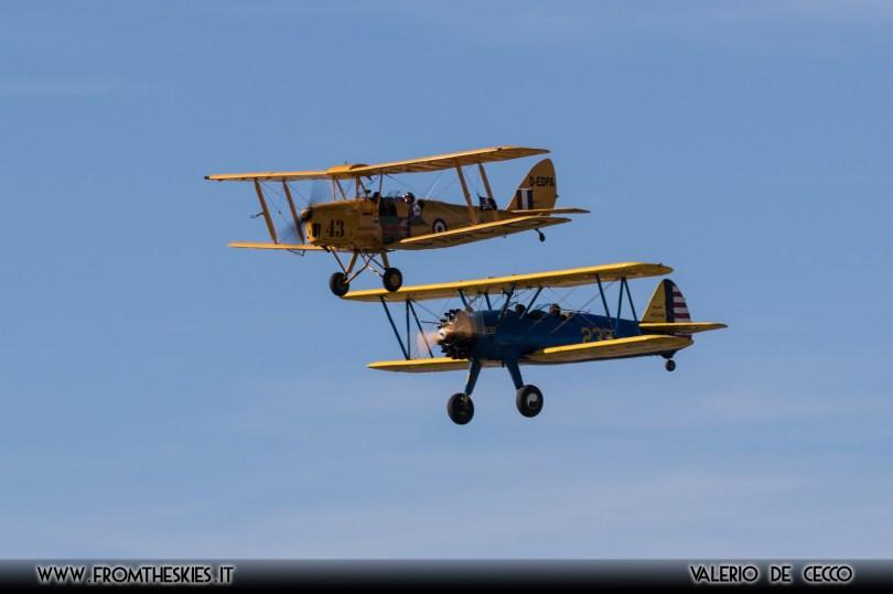 Tiger Moth e Boeing Stearman PT-17