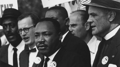 Martin Luther King, Jr. during the Civil Rights Movement.