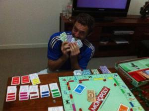 Jerrad's Monopoly success.