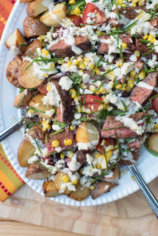 Cowboy Steak Salad | From Valerie's Kitchen