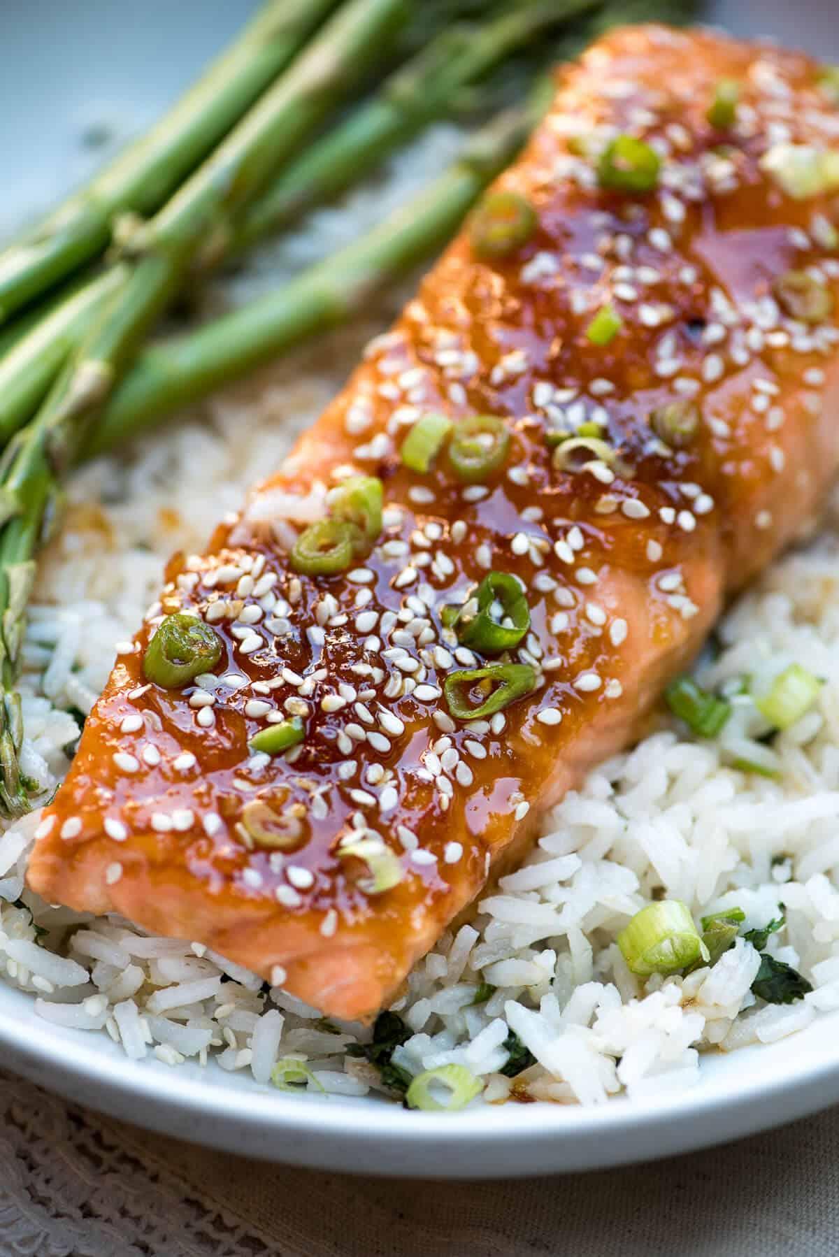 Orange Ginger Glazed Salmon Recipe