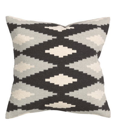Hm Gray Black Cream Aztec Diamond Throw Pillow Cover From