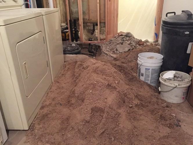 Underground plumbing backfill