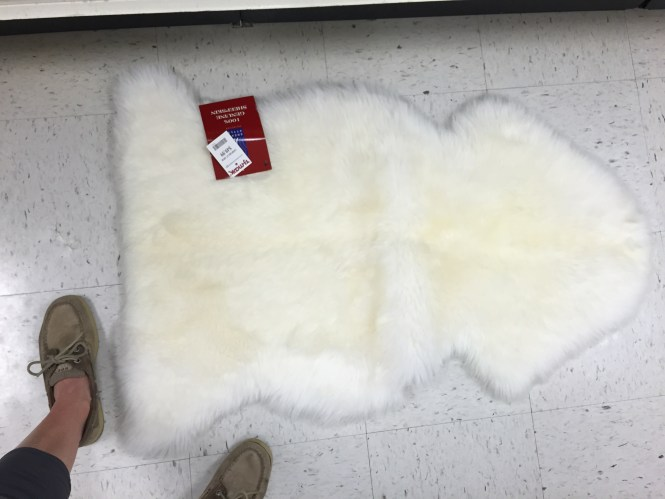 Affordable Sheepskin Rug, TJMaxx $50