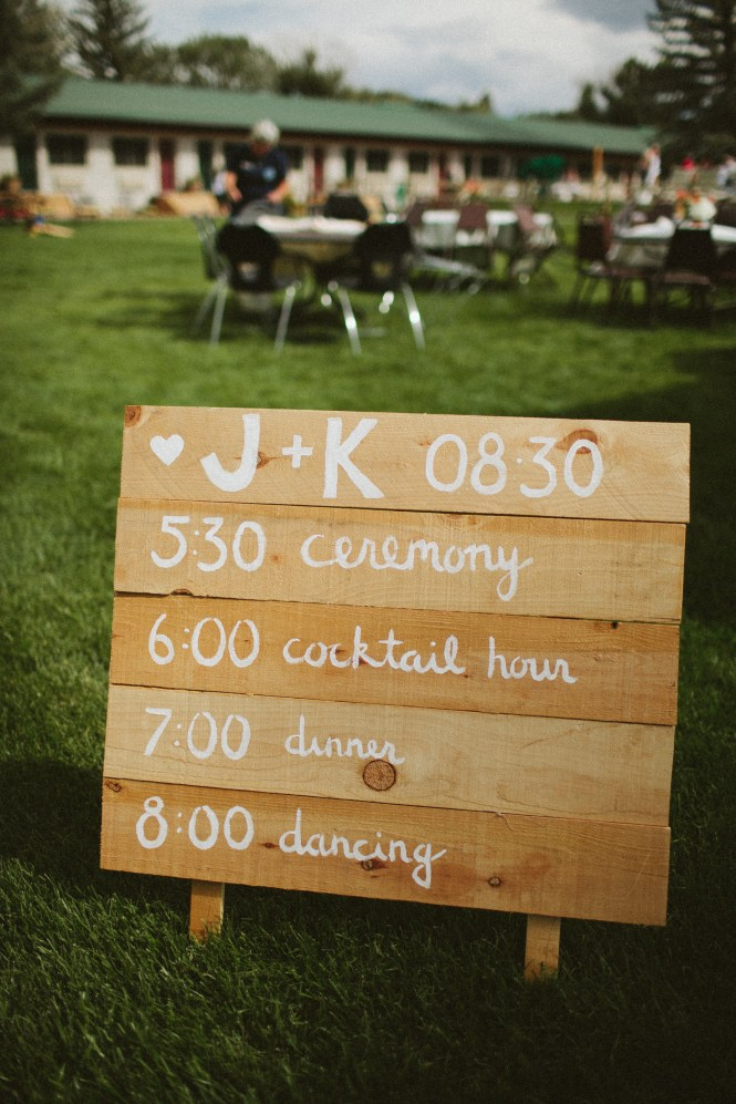 Wedding Timeline Board DIY Painted