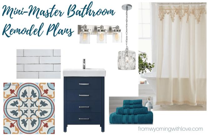 Mini Master Bathroom Remodel Plans- Mood Board