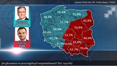 Oto jak głosowała Polska! Śląsk poparł Dudę
