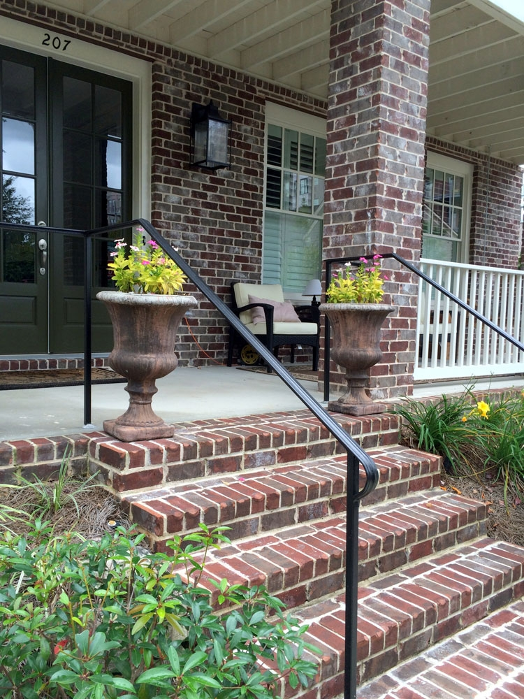 Porch Hand Rails Designs Kits And More   Aluminum Railing For Outside Steps