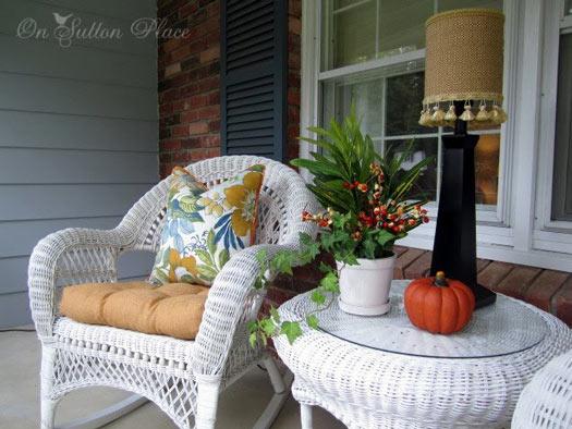 Wicker Table Outdoor Side
