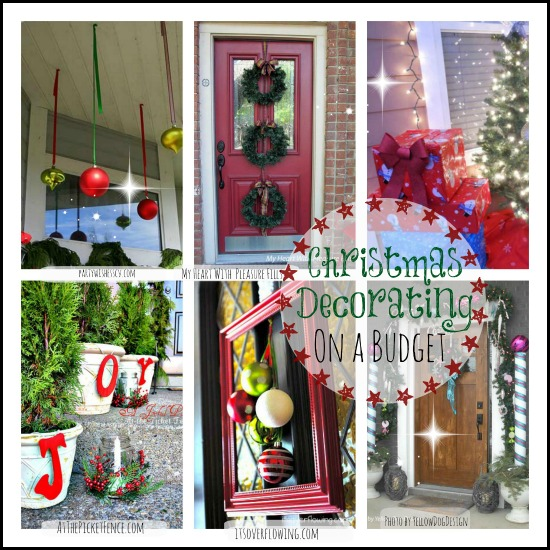 Christmas Decorating on a Budget   Fun Ideas beautiful christmas collage of inexpensive decorating ideas