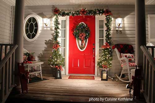 Front Poor Christmas Decorating Ideas