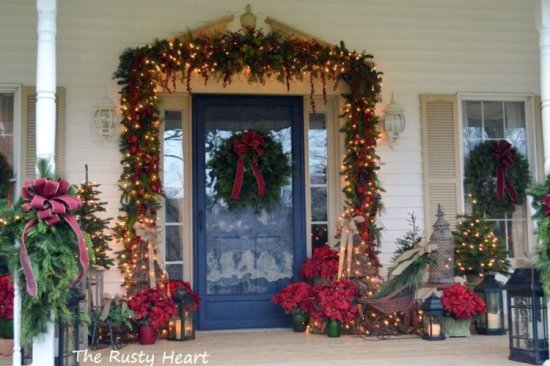 Cool Diy Decorating Ideas For Christmas Front Porch 03