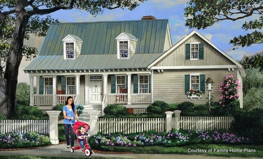 House Plans Online with Porches   House Building Plans   House     Adorable house with a sweet front porch from Family Home Plans  86345 and  shown on
