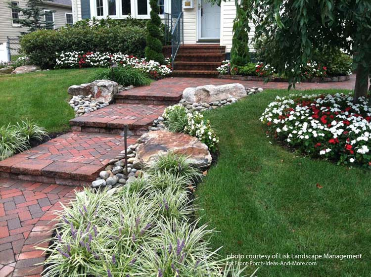 front yard landscape designs with