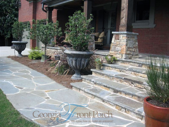 Stylish Front Porch Designs | Front Porch Steps Designs | Porch Style | Beautiful Front | Front Entry Brick Stair | Outside | Outdoor Step