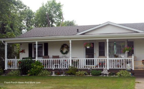 Ranch Home Porches Add Appeal and Comfort ranch home with combination shed roof and gable roof design