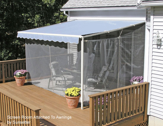 screen porch kits install on awnings