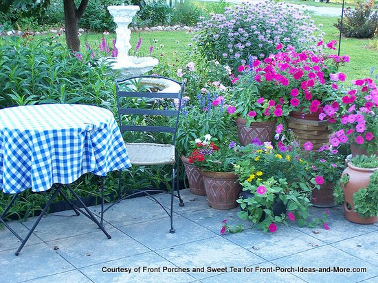 Decorating Your Porch For Summer Patch Of Bright Flowers On Chanda S Patio