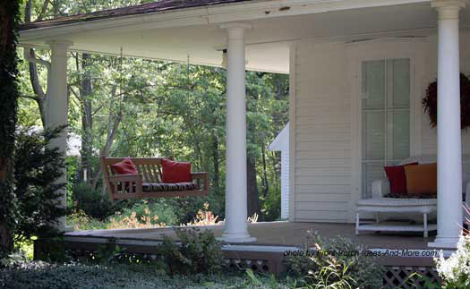 Round Tapered Columns On Wrap Around Porch Simple Yet Impressive Tuscan Style Front