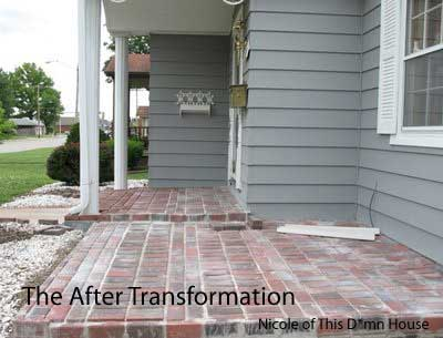 brick floor porch addition project