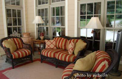 Enclosed Porch Decorating Ideas nicely decorated and furnished porch
