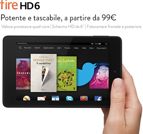 Photo of Arrivano i nuovi tablet Fire di Amazon: Fire HD 6, Fire HD 7 e Fire HDX 8.9.