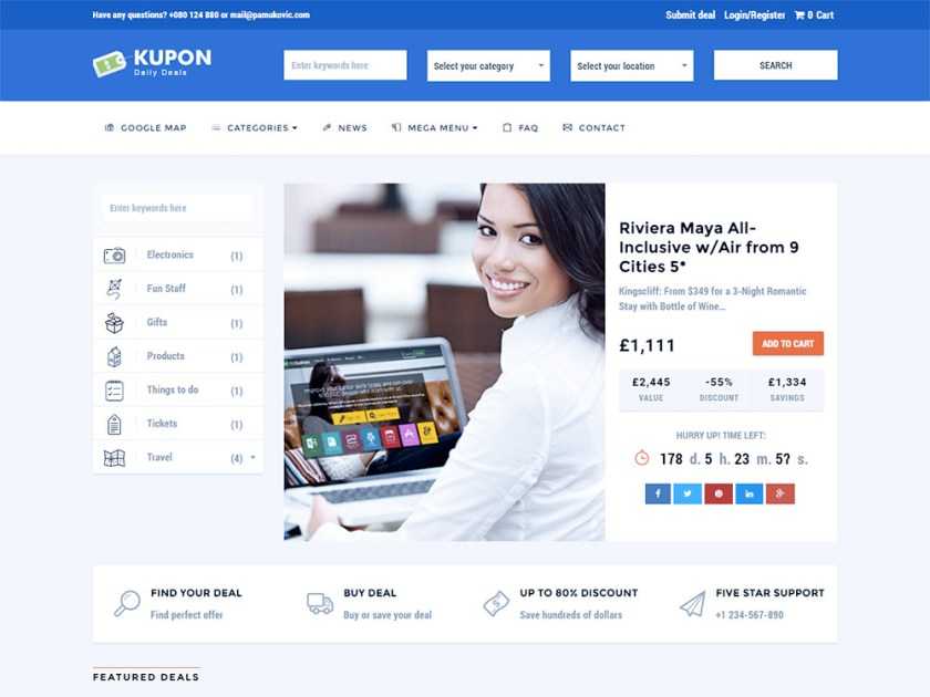 Kupon Affiliate WordPress Theme by Azeso