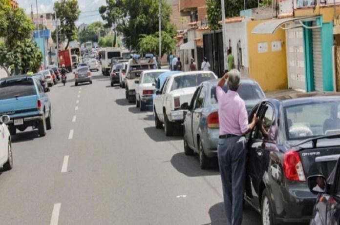 colas de gasolina Caracas