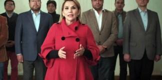 presidenta de Bolivia renuncia