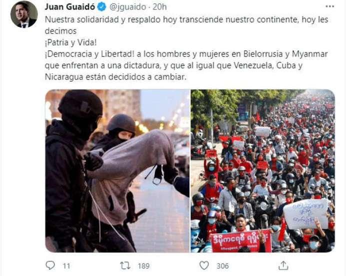 Guaidó protestas Cuba