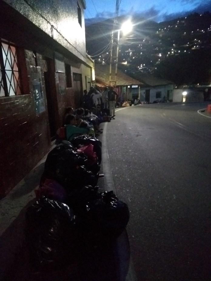 Crisis en Pamplona por caminantes venezolanos
