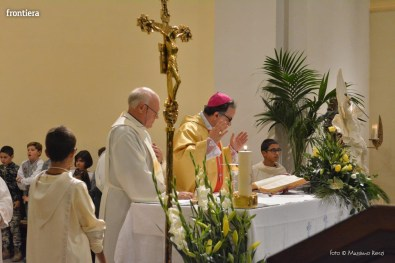 Mons Domenico Pompili a San Michele Arcangelo (Messa) 29 settembe 2015 foto Massimo Renzi 13