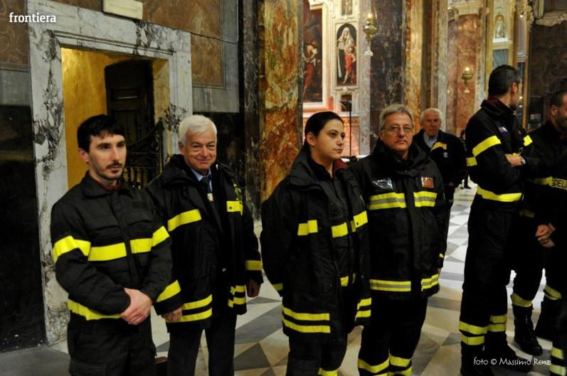 Santa Barbara nel Mondo Messa 4 dicembre vigili del fuoco foto Massimo Renzi 14