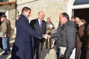 Inaugurazione Affresco Restaurato Greccio Grotta Presepe [16.12.2016] foto Massimo Renzi 22