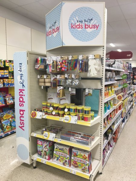 Wilkos Keep the Kids Busy Promotional Display