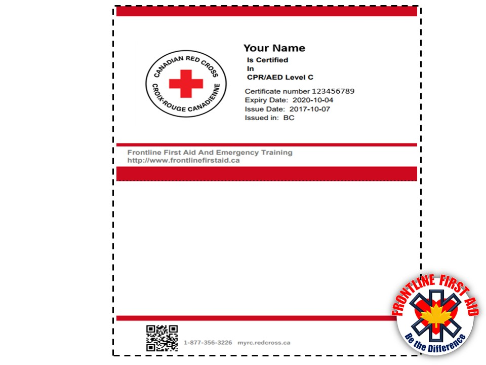 Canadian Red Cross Replacement Cpr Card Cardjdi
