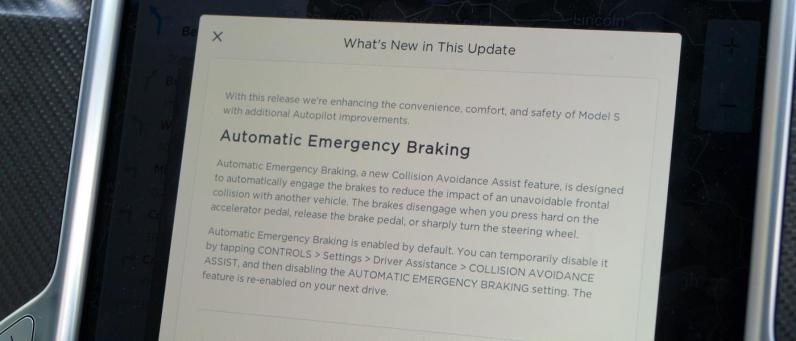 Half way through my time with the car, Autonomous Emergency Braking was added overnight.
