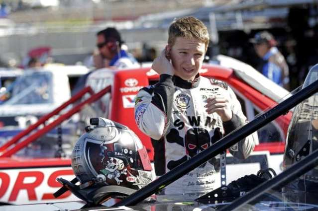 NASCAR Camping World Truck Series driverJohn Hunter Nemechek in the garage at Phoenix International Raceway