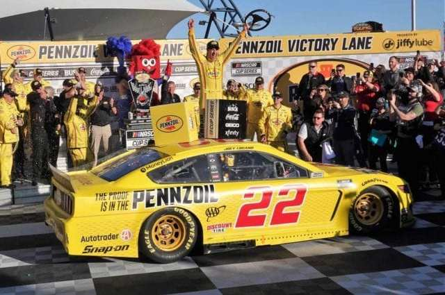 Pit Strategy Gives Joey Logano Pennzoil 400 Victory