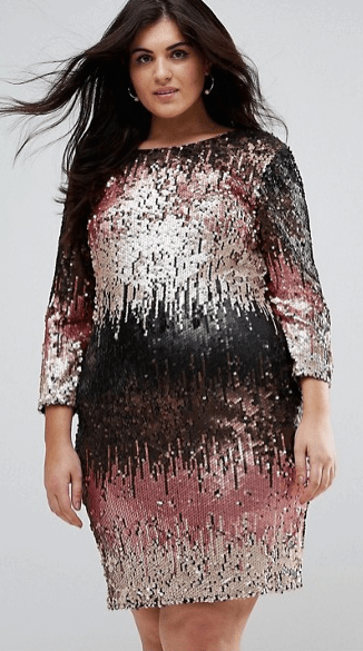 ASOS plus size sequin dress | FRO PLUS FASHION