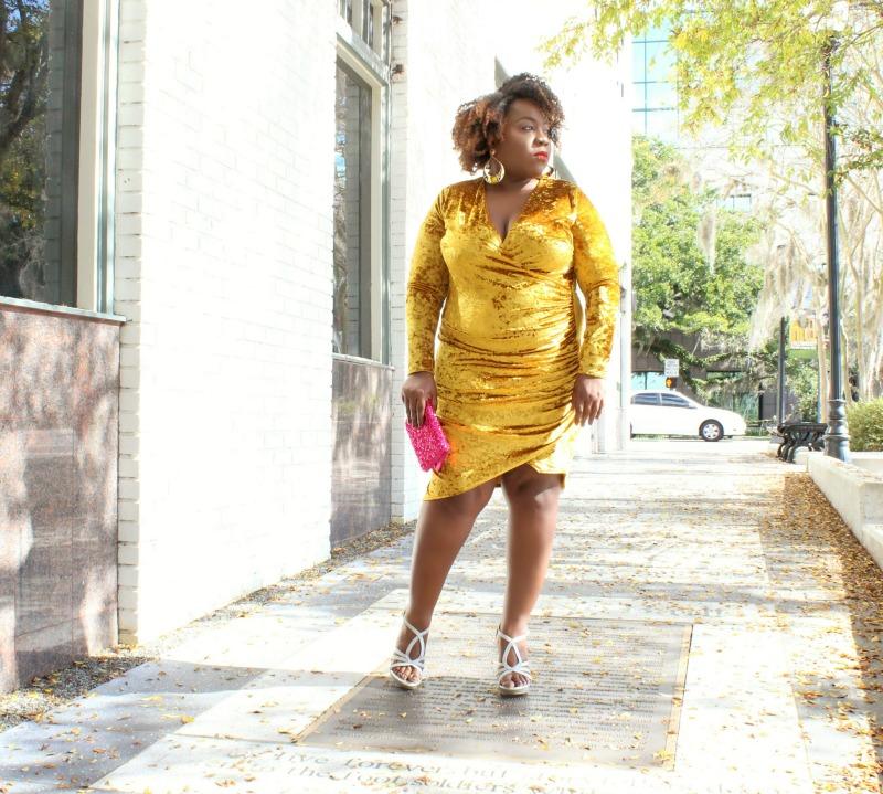 Yellow Velvet Dresses