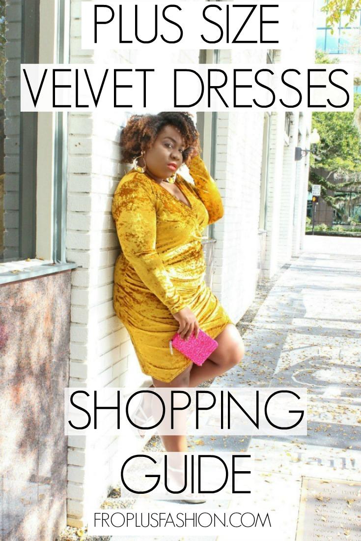Plus Size Velvet Dresses Pinterest