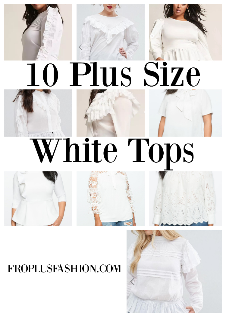 10 Fancy Plus Size White Tops to Wear With Jeans