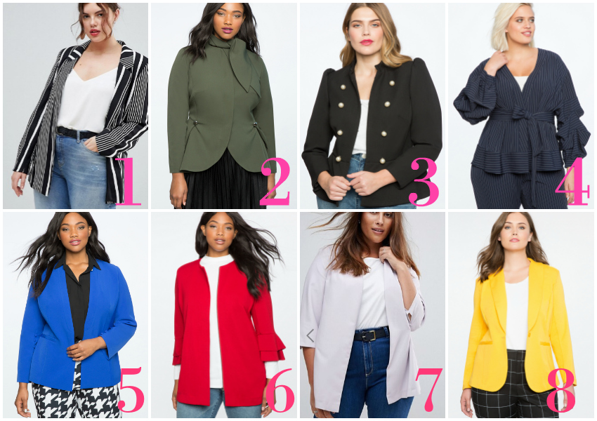 Find Plus Size Blazers for Work