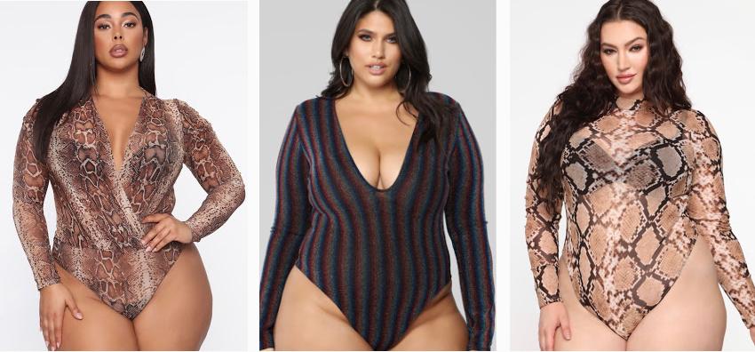 Plus Size Full Bodysuit Tops 2