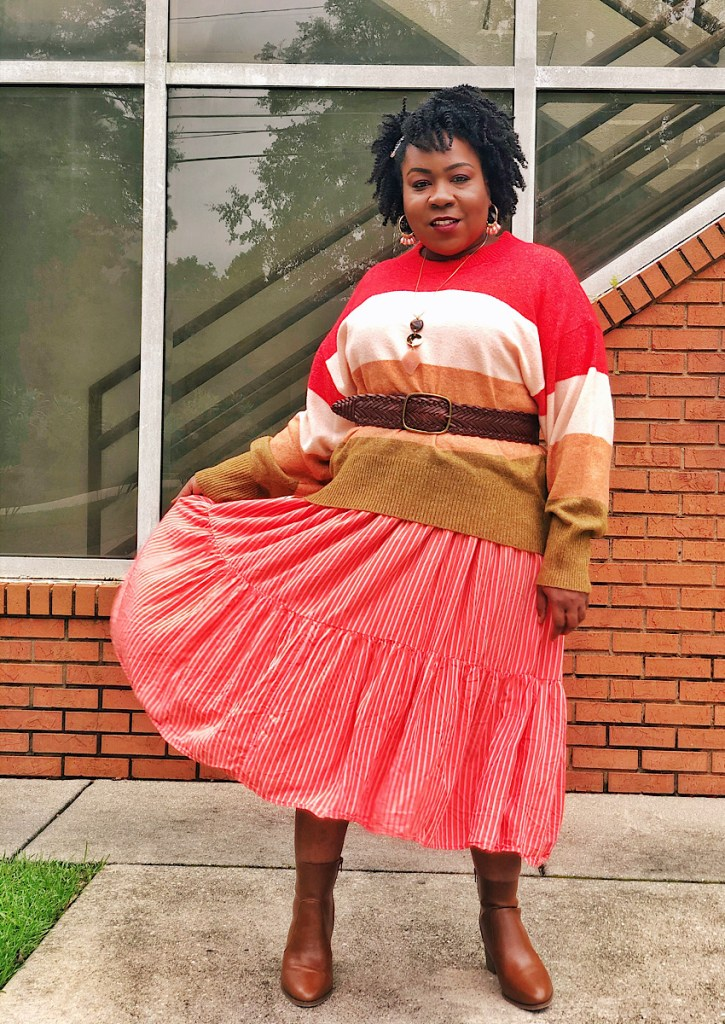Plus Size Sweaters and Maxi Dress Outfit Ideas