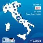 """DOMANI__A Rieti arriva il tour nazionale dell'UGL """"Il Lavoro Cambia anche Noi!"""" verso il Primo Maggio."""